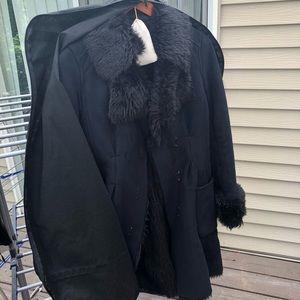 A/X Armani ExchangeBlack Fur Coat